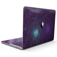 Purple Geometric V11 - MacBook Pro with Touch Bar Skin Kit