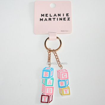 Licensed cool Melanie Martinez Crybaby Cry Baby Blocks Logo Metal Key Ring Chain Keychain NEW