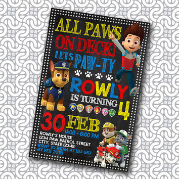 paw patrol - paw patrol invitation - paw patrol birthday - paw patrol party - paw patrol birthday invitation - paw patrol for boys