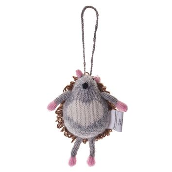 Alpaca Hedgehog Ornament