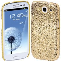 Cimo Bling Sparkle Hard Cover Back Case for Samsung Galaxy S III - Gold