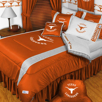 NCAA Texas Longhorns Bedding Set College Football Bed: Full