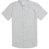On The Byas Heathered Twill Woven Shirt - Mens Shirt - Gray