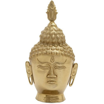 Peaceful Gold Buddha Head