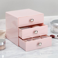 Pink 3 Drawer Storage Organizer Solution  Beauty Makeup Cosmetic Fashion Jewelry Crafts