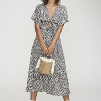AZALEA PRINT - MAGDA MIDI DRESS