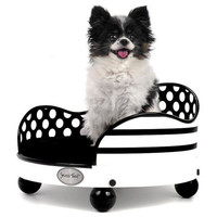 Small Smucci Dog Bed or Cat Bed with Black and White by Smuccitoo