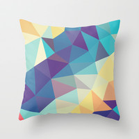 Coral Reef Tris Throw Pillow by Beth Thompson
