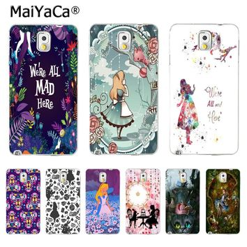 MaiYaCa Alice in Wonderland Luxury Fashion 2D Phone Case for Samsung Galaxy S5 S6 S7 S8 S8 PLUS Mobile Bage Case