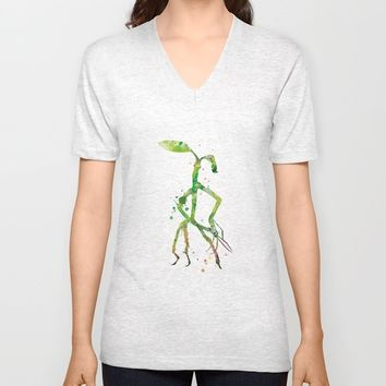 Pickett Bowtruckle Unisex V-Neck by MonnPrint