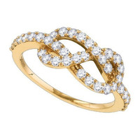 Diamond Fashion Ring in 10k Gold 0.77 ctw