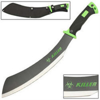 Full Tang 20 in ZOMBIE Killer Blood Splatter Machete KM0122