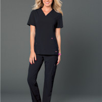 Smitten Scrub Top Black Rock Goddess - S101002