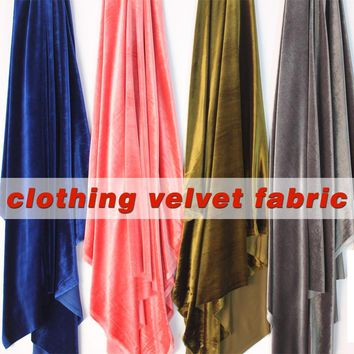 "Silk Velvet Fabric Velour Fabric Pleuche Fabric Clothing Evening Dress Luxury Designer Apparel Home Upholstery 60"" Wide BTY"