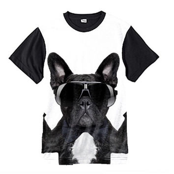 French Bulldog Unisex Black Out sublimation tshirt