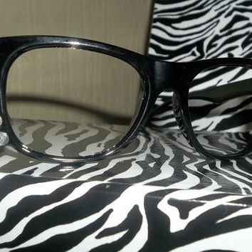 Adorable Cat Kitty Inspired Frame Clear Rhinestone Glasses