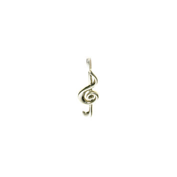 Music In Motion G-Clef Sterling Silver Charm