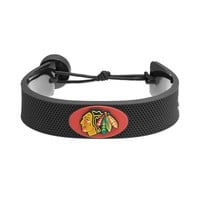 GameWear Chicago Blackhawks Rubber Hockey Bracelet