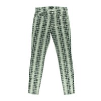 7 For All Mankind Womens Printed Mid-Rise Skinny Pants