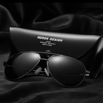 AORON Brand Designer Retro Polarized Sunglasses Coating Mirrored Vintage Sol Eyeglasses Eyewear Accessories Sun Glasses For A331