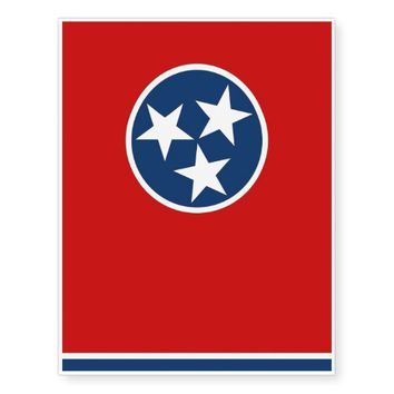 Patriotic temporary tattoos Flag of Tennessee