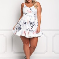 Plus Size Clothing | Plus Size Floral Flared Dress | Debshops