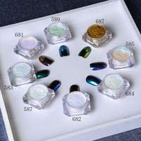 1g/Box Shinning Mirror Nail Glitter Powder Gorgeous Nail Art Manicure Chrome Pigment Glitters