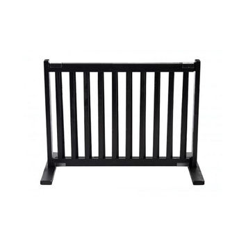 Dynamic Accents Free Standing Wooden Expandable Pet Gate - Small / Black