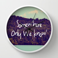 Somewhere Wall Clock by Rachel Burbee