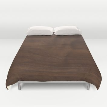 walnut textile natural wood Duvet Cover by Xiari
