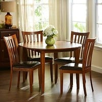 Light Walnut Round Dining Table | Kirklands