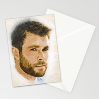 A Tribute to CHRIS HEMSWORTH Stationery Cards by naumovski
