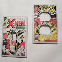 The Xmen Vintage Comic Light Switch and Outlet by myevilfriend