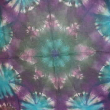 "Tie Dye Fabric Ice Dyed Handkerchief Linen 55""x12"""