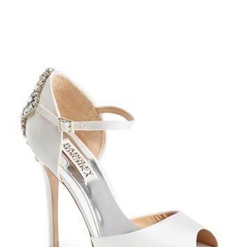 Women's Badgley Mischka 'Gene' Crystal Back Ankle Strap Pump,