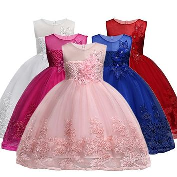 Sleeveless Flower Girls Party Dresses