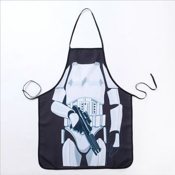 Star Wars Force Episode 1 2 3 4 5 1pcs/set Cool Cooking Apron Funny  White Warrior Aprons Men Women Cooking Party Bibs Carth aprons AT_72_6
