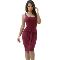 Tie Front Casual Dress