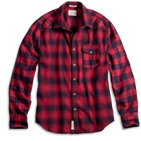 Lucky Brand Polaris Western Shirt Mens - Red/Navy