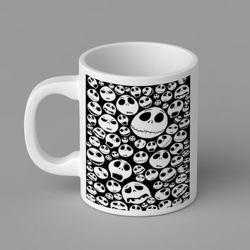 Gift Mugs | Jack Skellington Collage Art   Ceramic Coffee Mugs