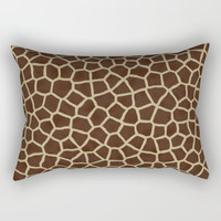 Giraffe Print Pattern Rectangular Pillow by Smyrna