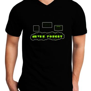 Never Forget Retro 80's Funny Adult Dark V-Neck T-Shirt by TooLoud