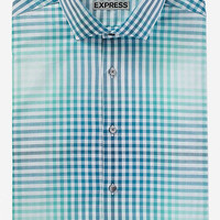 FITTED PLAID DRESS SHIRT from EXPRESS