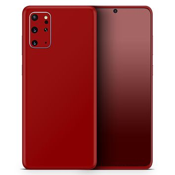 Solid Dark Red - Skin-Kit for the Samsung Galaxy S-Series S20, S20 Plus, S20 Ultra , S10 & others (All Galaxy Devices Available)