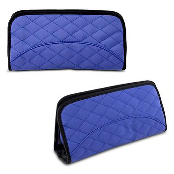 Travelon Jewelry & Cosmetic Clutch w/ Removable Center Pouch, Periwinkle Quilted