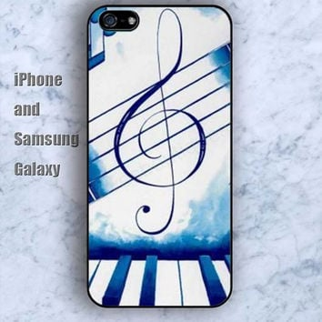 Piano musical notation iPhone 5/5S Ipod touch Silicone Rubber Case, Phone cover