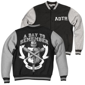 A Day To Remember: University Varsity Jacket (Black)