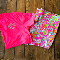 Lilly Pulitzer Monogrammed Short Sleeve Top