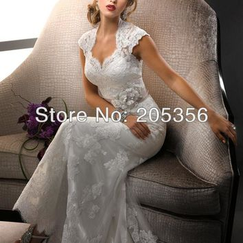 NEW DESIGN Free Shipping Hot Sale Sweetheart Sheath Lace with Removable Sash Elegant Women Wedding Dresses NW27