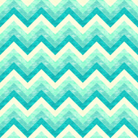 Chevron - Mint Art Print by Jacqueline Maldonado